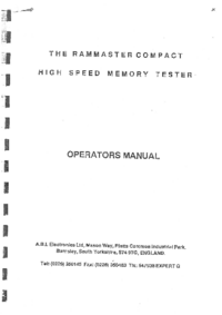 User Manual A.B.I.Electronics Rammaster Compact