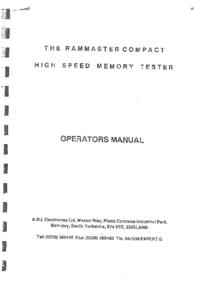 Руководство пользователя A.B.I.Electronics Rammaster Compact