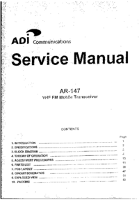 Service Manual ADI AR-147