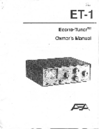 User Manual AEA ET-1