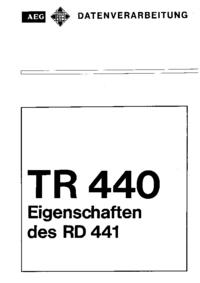 Service et Manuel de l'utilisateur AEG System TR 440