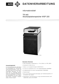 Serwis i User Manual AEG WSP 220