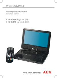 Manual del usuario AEG CTV 4958