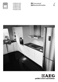 User Manual AEG 947056V-MN