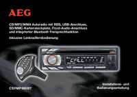 Manual del usuario AEG CSFMP660BT