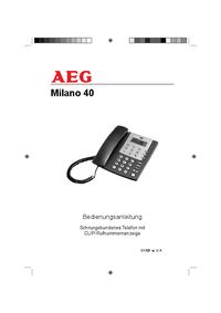 Manual del usuario AEG Milano 40
