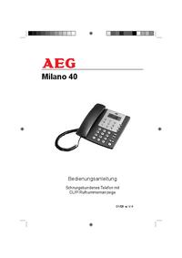 Instrukcja obsługi AEG Milano 40