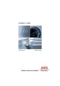 Gebruikershandleiding AEG LAVAMAT L 14850