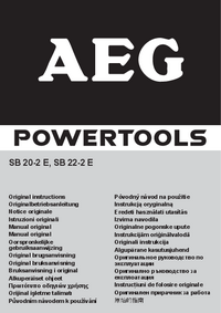 Manual del usuario AEG SB 20-2 E