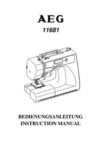 User Manual AEG 11681