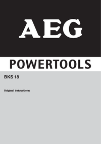 User Manual AEG BKS 18