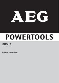 Bedienungsanleitung AEG BKS 18
