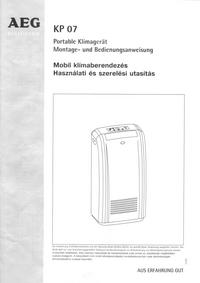 Bedienungsanleitung AEG KP 07