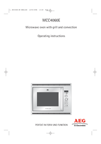 Gebruikershandleiding AEG MCC4060E