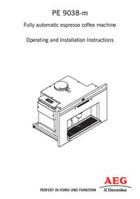Manual do Usuário AEG PE 9038-m