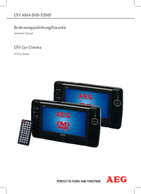 User Manual AEG CTV 4944 DVB-T/DVD