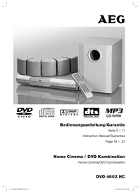 Manual del usuario AEG DVD 4602 HC