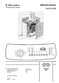 Instrukcja serwisowa AEG EWM 2000