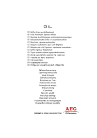 User Manual AEG CS 5000
