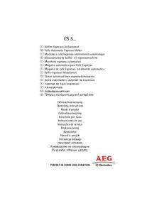 User Manual AEG CS 5200