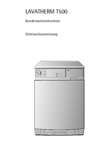 Manual del usuario AEG LAVATHERM T500