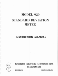Service and User Manual AIE 920