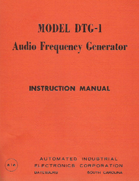 Service and User Manual AIE DTG-1