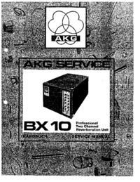 manuel de réparation AKG BX 10