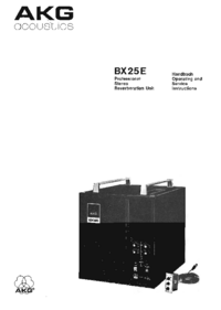 Service and User Manual AKG BX 25E