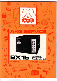Service and User Manual AKG BX 15