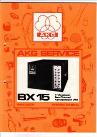 Serviço e Manual do Usuário AKG BX 15