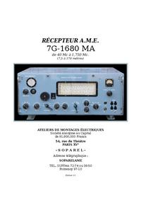 Instrukcja serwisowa AME 7G-1680 MA
