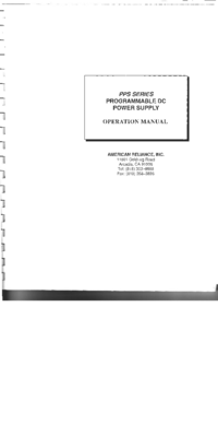 Manuale d'uso AMREL PPS Series