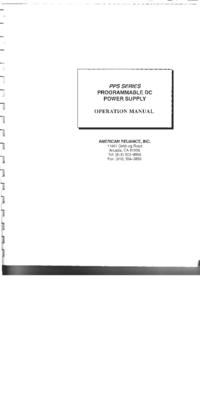 Instrukcja obsługi AMREL PPS Series