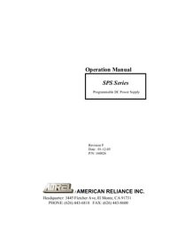 Manuale d'uso AMREL SPS Series