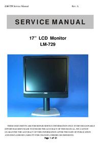 Руководство по техническому обслуживанию AOC LM-729