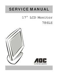 Manual de servicio AOC 786LS