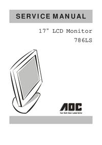 Instrukcja serwisowa AOC 786LS
