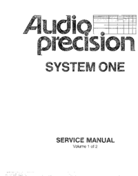 Manual de servicio AP System One SYS-20