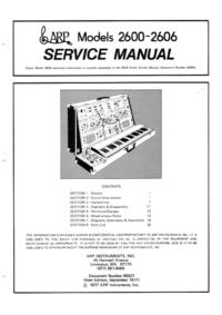 manuel de réparation ARP 2600