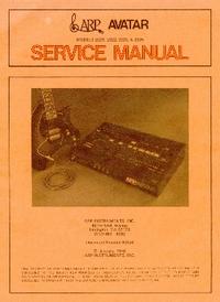 Руководство по техническому обслуживанию ARP Avatar 2222