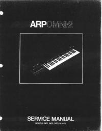 Service Manual ARP Omni-2 2475