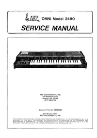 Servicehandboek ARP Omni 2480
