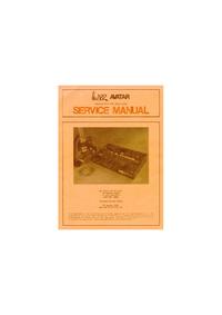 manuel de réparation ARP Avartar 2222