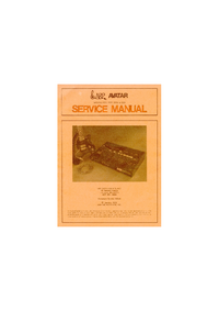Manual de serviço ARP Avartar 2225
