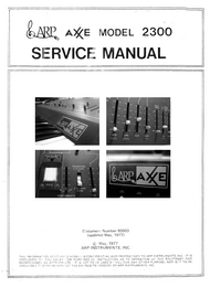 Instrukcja serwisowa ARP Axxe 2300