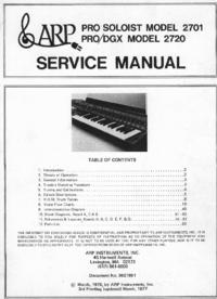 Manual de servicio ARP Pro Soloist 2701