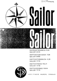 Serwis i User Manual ASSPRadio Sailor R-110