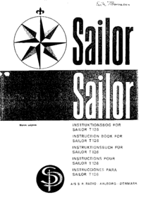 Servicio y Manual del usuario ASSPRadio Sailor T-126