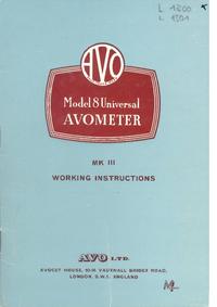 Servicio y Manual del usuario AVO Avometer 8 MK III